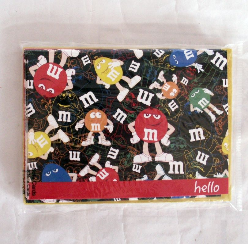 M/&M/'s Magnetic Memo pad~60 Sheets~Brown Characters