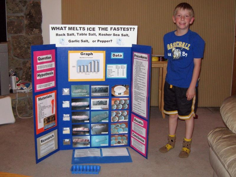 science fair project melting ice